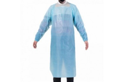 Disposable Isolation CPE Gown Blue